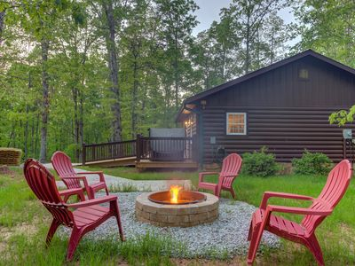 Photo for NEW LISTING! Wheelchair friendly cabin w/private hot tub - dog-friendly