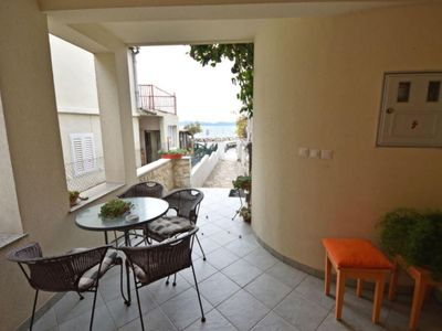 Photo for One bedroom apartment with terrace and sea view Zadar - Diklo, Zadar (A-5767-a)