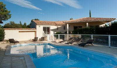 Photo for Villa 8 ch pool 300m from the beach Cala Rossa