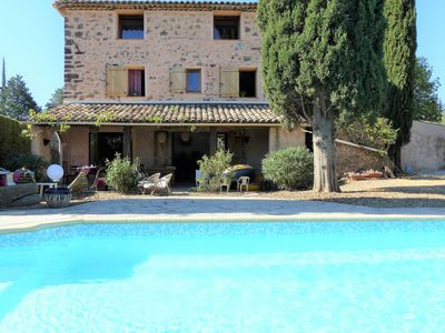 Photo for Authentic country house with air conditioning and private pool, situated between the vineyards