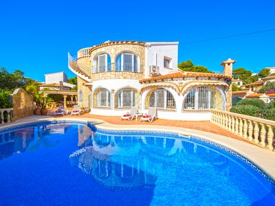 Photo for Villa in Javea with swimming pool and exceptional sea view