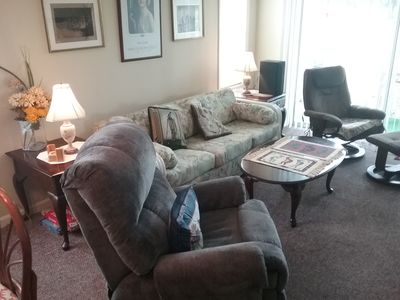 Photo for Elegant Ground Floor End Unit w/Golf Course View, WiFi & Cable