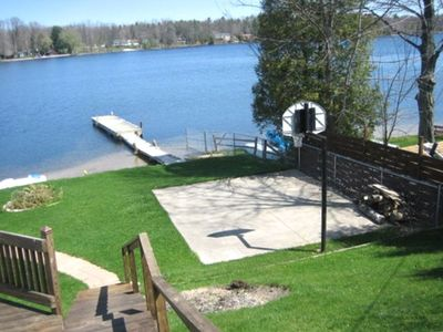Photo for Lake Front Property with Beach Area and Dock. Great Family Lk!