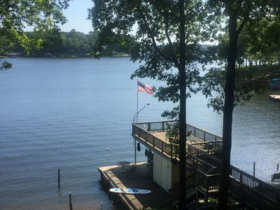 Photo for LAKE FRONT house on Lizard Creek where it meets the main lake. Playtime & relax.