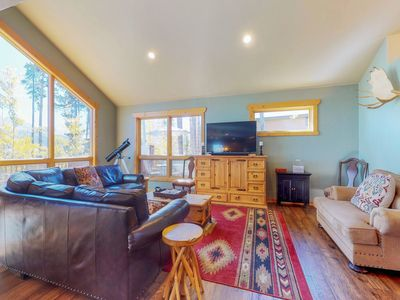 Photo for Mountain home w/ hot tub, deck, great views & foosball - walk to lifts/ski runs!