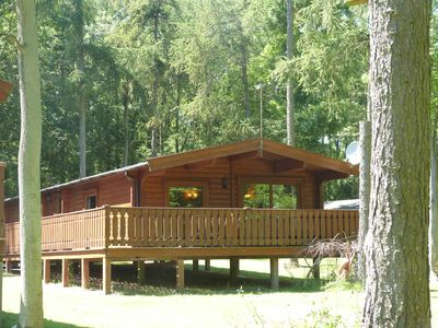 Photo for Luxurious 3 Bed Log Cabin Holiday Lodge in Louth, Lincolnshire (3B Sleeps6)
