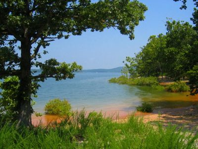 From your condo, short walk right into warm crystal clear Table Rock Lake!