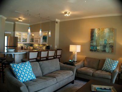 "Photo for SeaRenity Shores-Largest Balcony-Best view-2 kings +Bunkroom Sony60"" w/Apple TV!"