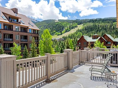 Photo for Heated Pool is Open! Walk to GONDOLA, Boutique Shops & Dining, Private Patio w/BBQ, Views of Slopes