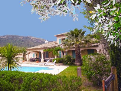 Photo for Gulf of St Tropez French Riviera beautiful private villa,heated pool & air con