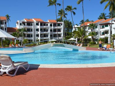 Photo for Punta Cana Paradise Condo Stanza Mare Right on Beach with Pool
