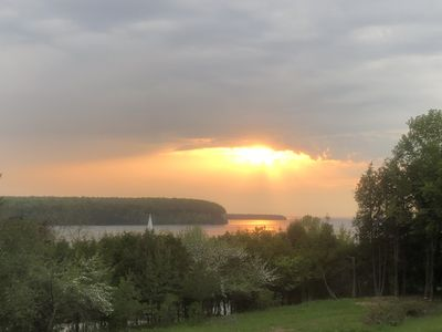 Photo for Breathtaking Views of Eagle Harbor Bay and Sunsets!