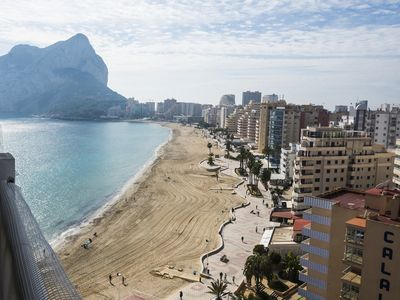 Photo for Views of the entire Levante beach in Calpe from the Esmeralda Building