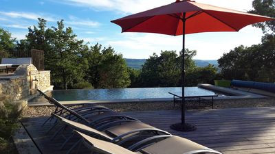 Photo for BASTIDE WITH SWIMMING POOL VERY BEAUTIFUL SITUATION FACING THE GREAT LUBERON