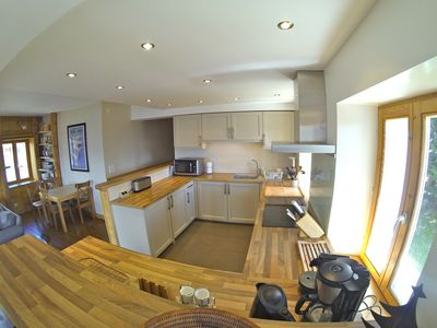 Photo for Arc 1600 Large luxury apartment in chalet on the slopes. 14 pers, 5 ch, Hammam