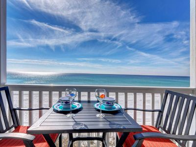 Photo for Gorgeous oceanfront condo, step onto the beach from your private balcony