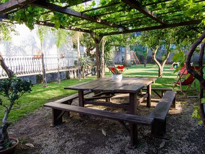 Photo for Up to 16 sleeps-pool-BBQ-garden-sea just crossing the street-Etna view- by SunTripSicily