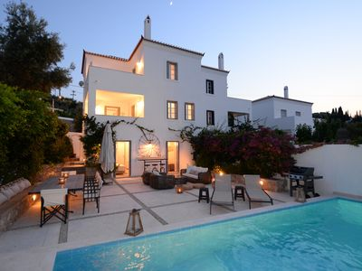 Photo for Spectacular 5-bedroom 6-bath Spetses villa with sweeping views and private pool