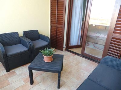 Photo for Three bedroom apartment with terrace and sea view Fažana