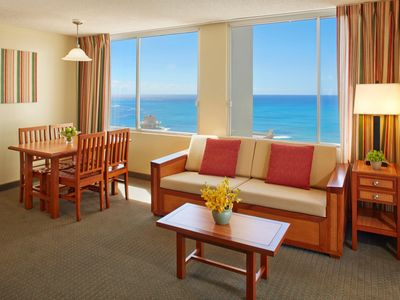 Photo for Pacific Monarch Hotel - One Bedroom Ocean View with Kitchen Two Twin Beds