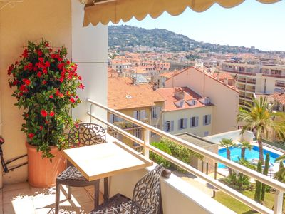 Photo for Riviera Parc - with balcony and views of the whole of Cannes and the Mediterranean Sea.