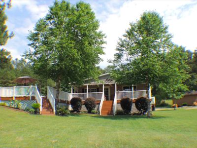 Photo for NEW!! LAKEFRONT WITH DOCK - BEAUTIFUL HOME AND DECK WITH AWESOME VIEWS