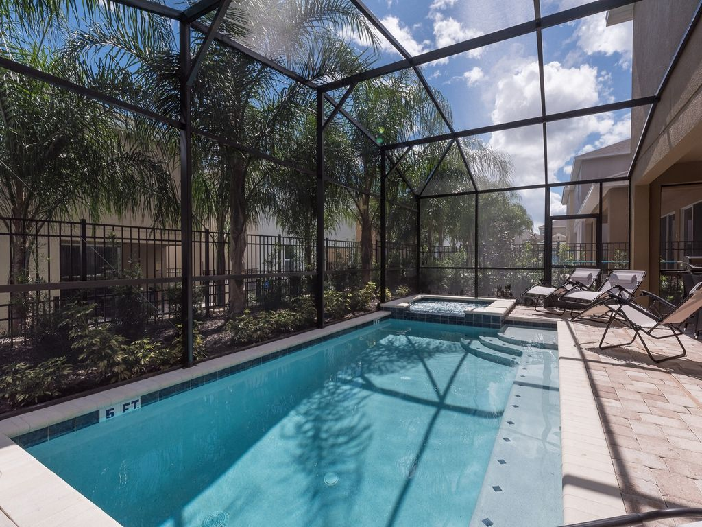 8 Bedroom Pool Home With Water Park Near To Disney 8 Br Vacation Villa For Rent In Kissimmee