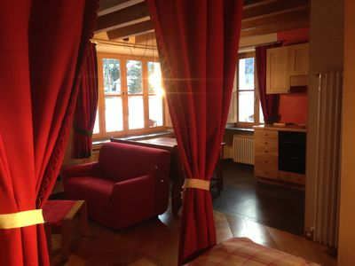 Photo for Cosy studio apartment in a house with character set in front of the San Orso fields