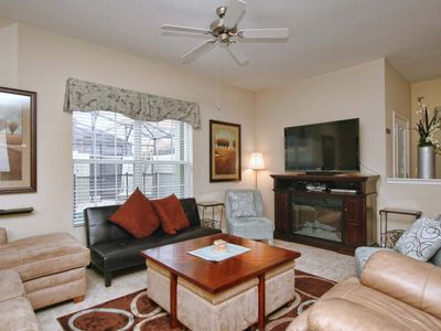 Photo for RESORT COMMUNITY, CLOSE TO CLUB HOUSE, FREE WIFI, ELECTRIC FIRE PLACE!