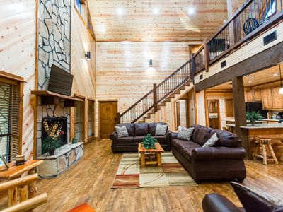 Photo for Runnin' Moon 3 Br; 4 Bth;Sleeps 12; Loft; Shuffleboard; Foosball;Hot Tub;FirePit