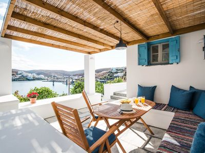 Photo for Luxury Seafront Apartment in Loutra Kythnos