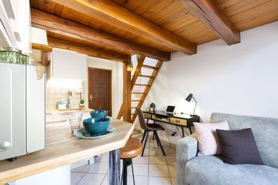 Charming mezzanine studio typical of the old town in the center - Antibes