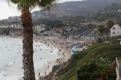 1 block from the house, the Main beach at Laguna Beach,