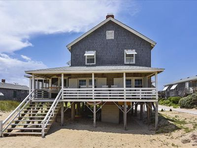 Photo for Beautiful Nags Head style cottage on the oceanfront in the heart of Nags Head! Plenty of room for all of your family and friends. Lots of indoor and outdoor living space.