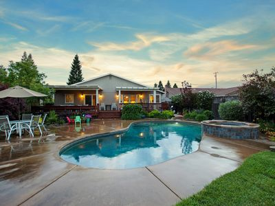 Photo for Sonoma property, close to downtown, wineries, fine dining, with pool & hot tub.