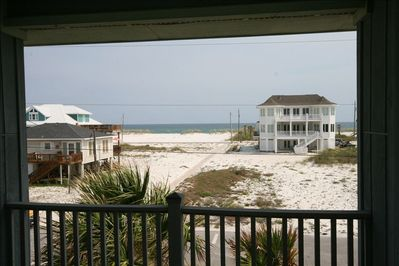 Gulf view from Master bedroom balcony