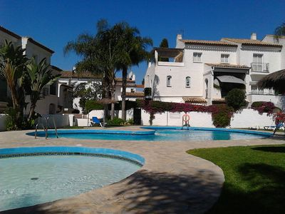 Photo for Apartment in residence with swimming pool, golf, beach