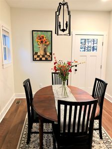 Dining Room with Door going to  Deck with Propane Gas Grill (Propane furnished)
