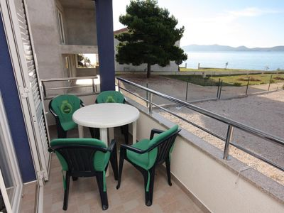 Photo for One bedroom apartment with balcony and sea view Bibinje, Zadar (A-5916-b)