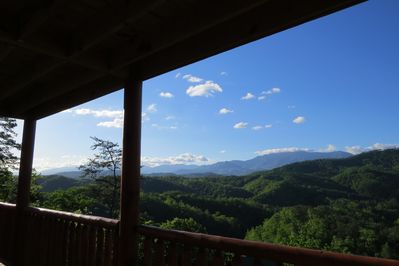 The views are amazing of Mt. Le Conte!