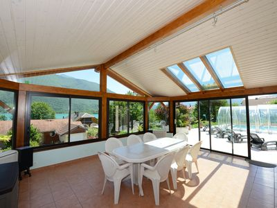 Photo for Villa with pool located next to Lac d'Annecy with lake and mountain views