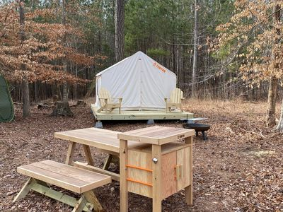 Photo for Tentrr - Birches: Woodsy Glamping Retreat near Chincoteague Island!