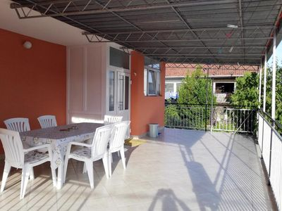 Photo for Two bedroom apartment with terrace and sea view Poljica, Trogir (A-4893-a)