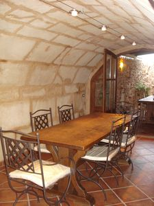 Photo for Bodega in a old autenthique Mallorcan farmhouse, a oasis of greenery, near pristine beach of Es Trenc.
