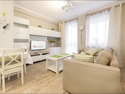 Photo for Wilenska apartment in Praga with WiFi, private parking & lift.