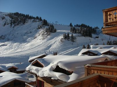 Photo for Luxury Ski-in/Ski-out Apartment with spectacular views of the Dents du Midi
