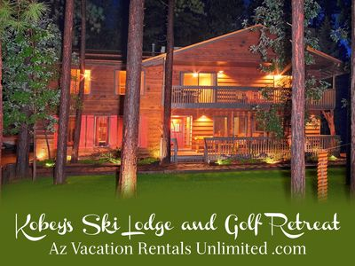 Photo for 6 BEDROOM CABIN SLEEPS 32: POOL TABLE - MOVIE THEATER - CLOSE TO EVERYTHING