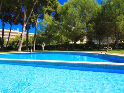 Photo for Penthouse, with solarium and pool, 300m. from beach of La Pineda. (Golden)
