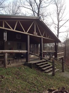 Photo for Cabin in the woods but within walking distance to the lake.