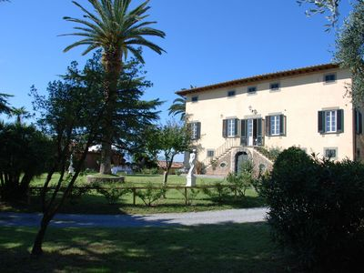 Photo for Beautiful private villa with WIFI, private pool, TV, patio, panoramic view, parking, close to Lucca